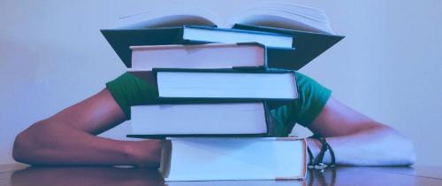 Analityk Biznesowy za stertą książek