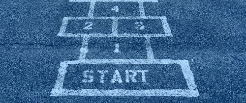 "Napis ""start"" na betonie"